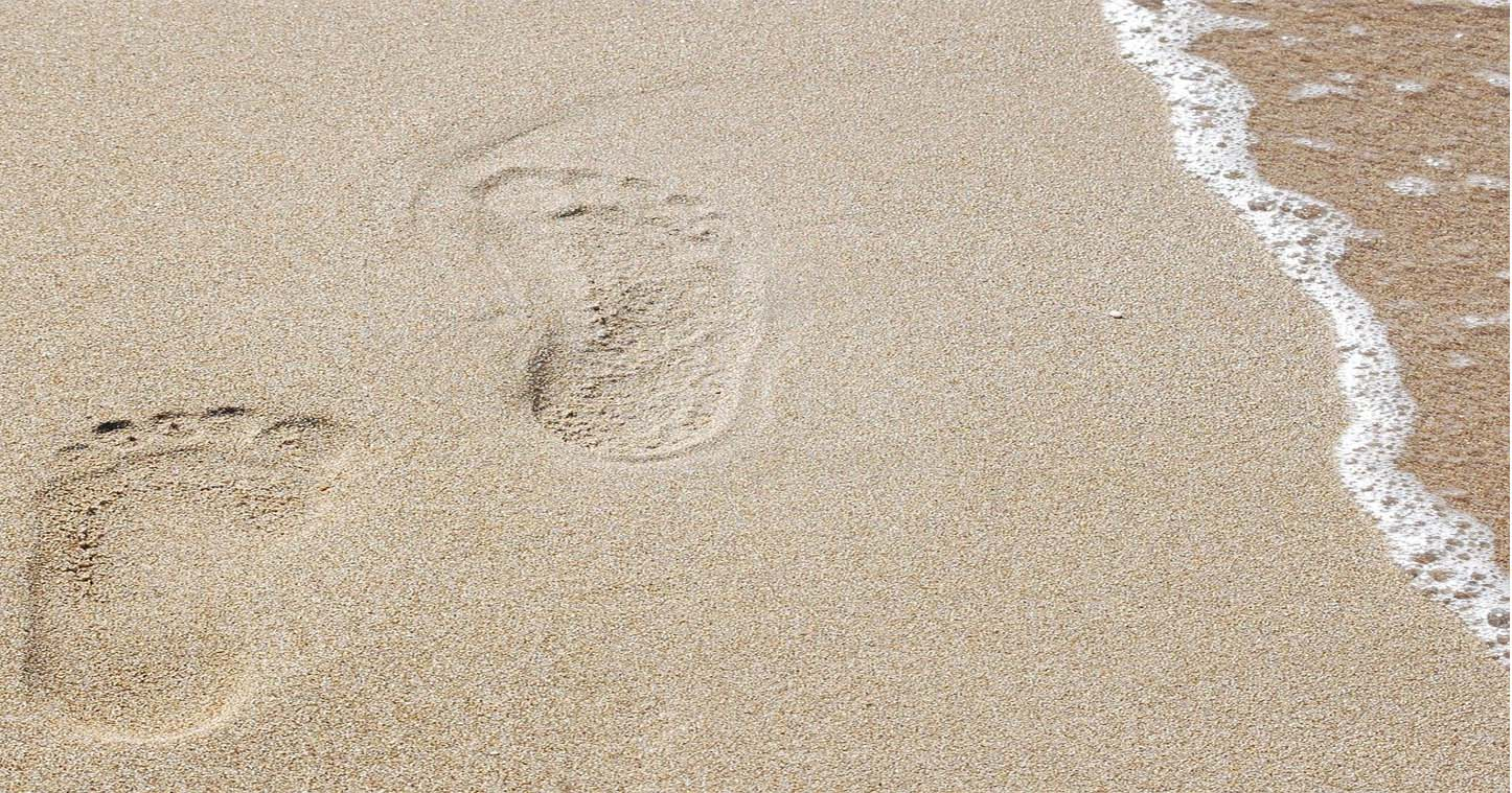 beach footprint